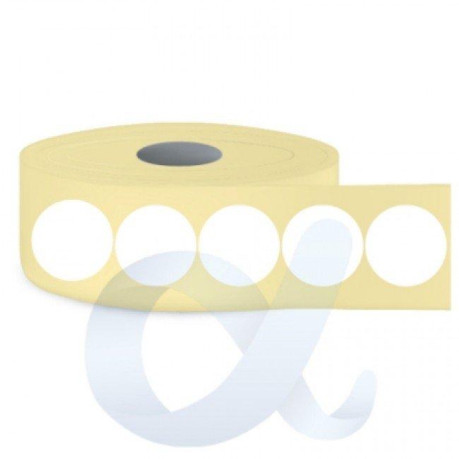 Самозалепващи термотрансферни етикети, полугланц, Fi30 mm/5000 бр./Ф76/кръгли - APL-TT129