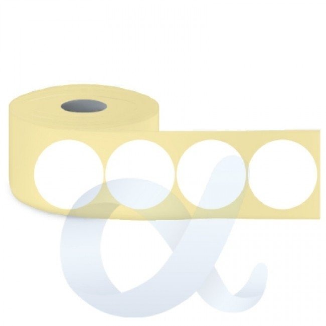 Самозалепващи термотрансферни етикети, полугланц, Fi50 mm/1500 бр./Ф40/кръгли - APL-TT133