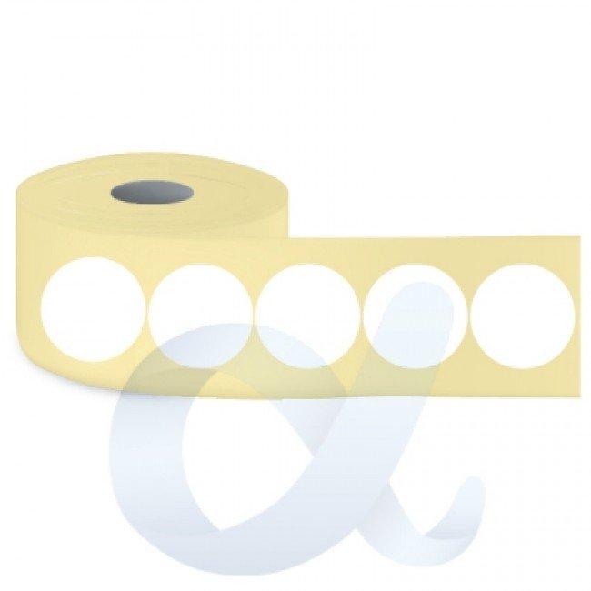 Самозалепващи термотрансферни етикети, полугланц, Fi30 mm/2500 бр./Ф40/кръгли - APL-TT130