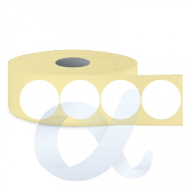 Самозалепващи термотрансферни етикети, полугланц, Fi50 mm/3000 бр./Ф76/кръгли - APL-TT132
