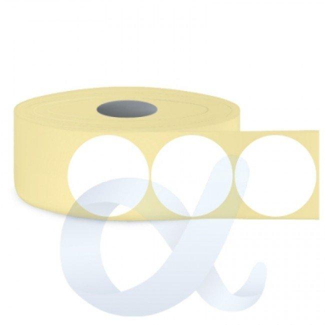 Самозалепващи термотрансферни етикети, полугланц, Fi68 mm/2200 бр./Ф76/кръгли - APL-TT135